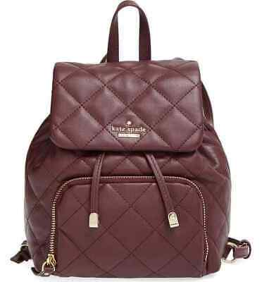 $ CDN187.69 • Buy NWT Kate Spade Emerson Place Jessa Quilted Leather Backpack $328 MulledWine PWRU