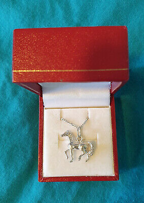 AU18 • Buy 925 Sterling Silver Horse Pendant & Chain – New Unused – Prouds – Unwanted Gift