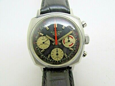 $ CDN1840.38 • Buy Vintage Heuer Camaro 3 Chronograph Manual Wind Valjoux 7736 Steel Men Watch