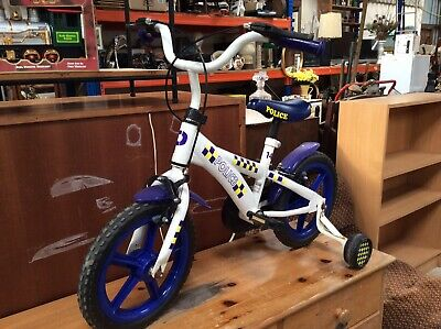 Child's Police Bike, Used, 12'' Bicycle. Traditional Toy. Child's Bicycle. Train • 9.50£