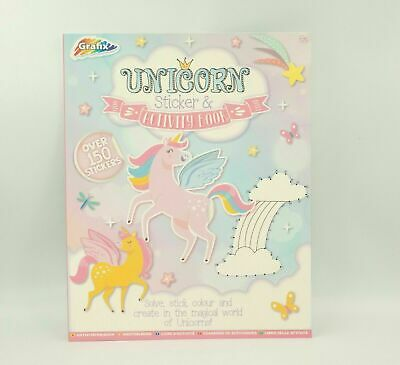 Unicorn Colouring & Sticker Book Activity Books Childrens Games Kids Drawing Set • 1.59£