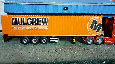 1:50 Scale Mulgrew Haulage, 45ft Container, Ideal For Code 3, Scania, Volvo • 55£