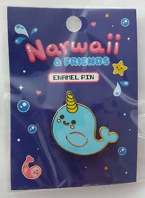 Cute Kawaii Narwhal Enamel Pin Badge  • 2£