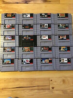 $ CDN165.70 • Buy Super Nintendo SNES Game Lot Of 20 Games - SUPER MARIO KART, MORTAL KOMBAT +++++