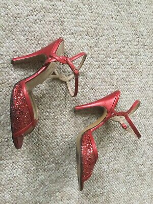 Terry De Havilland Vintage Red Shoes 1980's UK Size 5 • 65£