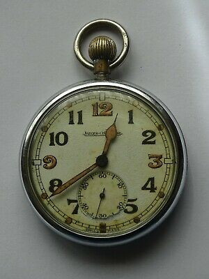 Antique Military WWII Pocket Watch   JAEGER LECOULTRE   Running Fine   • 199.99£