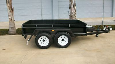 AU3300 • Buy 9x5 Tandem Box Trailer - Full Checkerplate - 380mm/15  High Sides - 1990kg GVM