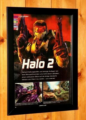 £36.57 • Buy 2004 Halo 2 Xbox Xbox One Xbox 360 Old Promo Poster Ad / Art Print Framed
