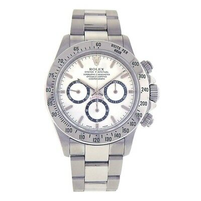 $ CDN44224.77 • Buy Rolex Daytona Stainless Steel White Dial Automatic Chronograph Mens Watch 16520