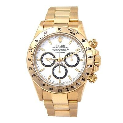 $ CDN47656.41 • Buy Rolex Daytona Zenith (E Serial) 18k Yellow Gold Men's Watch Automatic 16528