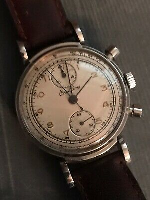 $ CDN705.13 • Buy Breitling Vintage Chronograph 17 Jewels, Two Register Up & Down