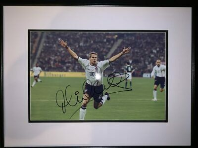 £79.99 • Buy Signed Framed Michael Owen England 5 Germany 1 Autograph Photo Liverpool