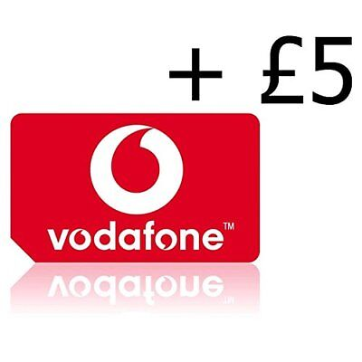 £7.99 • Buy VODAPHONE SIM CARD   Pay As You Go With £5 Credit Preloaded, All Phones