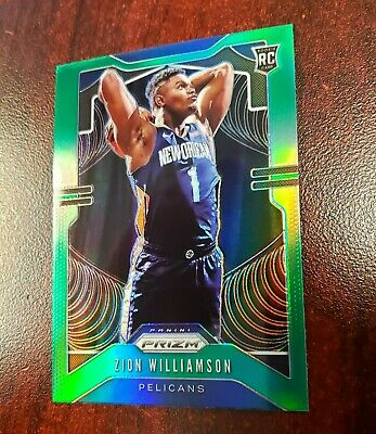 $162.50 • Buy 2019/20 Panini Prizm Zion Williamson RC Green Refractor Rookie Card Pelicans SP