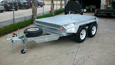 AU4305 • Buy 9x5 Tandem Axle Heavy Duty Hot Dip Galvanised Box Trailer With Ramps 1990kg GVM