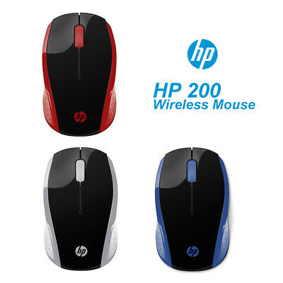 AU27.99 • Buy HP Wireless Mouse 200 2.4Ghz Optical Sensor 1000DPI Red/Blue/Silver