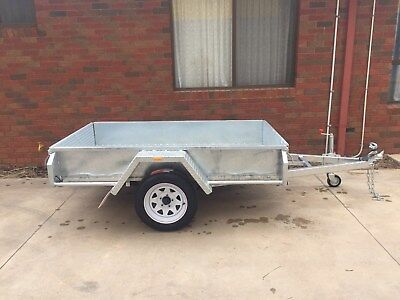AU2855 • Buy 7x5 Single Axle Heavy Duty Australian Made And Galvanised Box Trailer 750Kg GVM