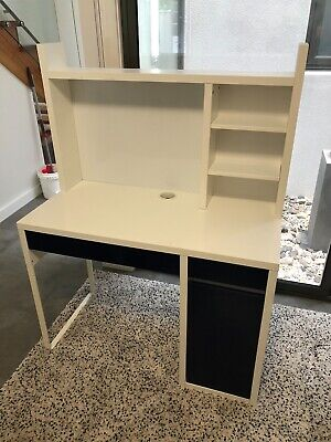 AU20.50 • Buy IKEA MICKE Children's Desk - White With Navy Blue Doors And Drawers.