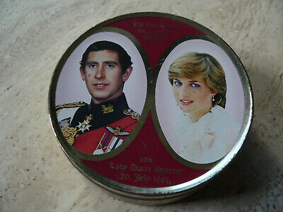 Vintage Travel Sweet Tin  Marriage Of Prince Of Wales & Lady Diana Spencer 1981 • 3.99£