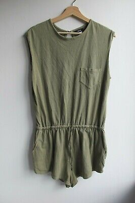 AU38 • Buy Urban Outfitters, London BDG Olive Green Playsuit Size XS-S