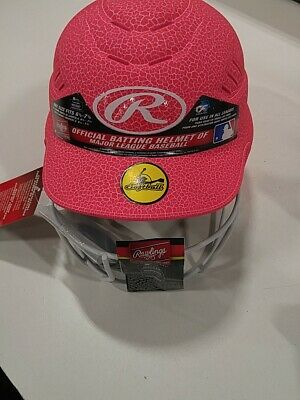 $9.50 • Buy Rawlings Coolflo Highlighter Softball Helmet Face Pink One Size Fits 6 1/2-7 1/2