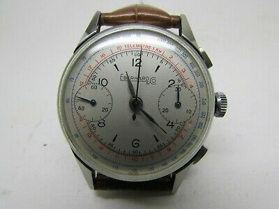 $ CDN557.05 • Buy Vintage Eberhard & Co Chronograph Manual Wind Valjoux  Men Watch