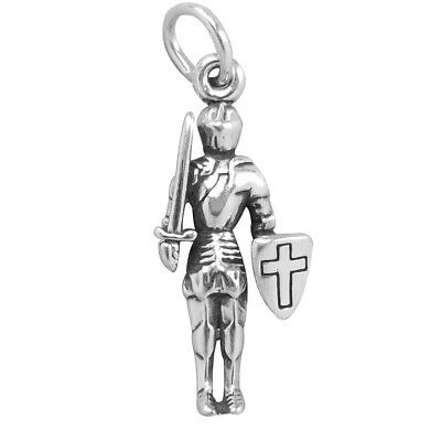 Knight In Shining Armour Charm Sterling Silver .925 History Soldier • 10.17£