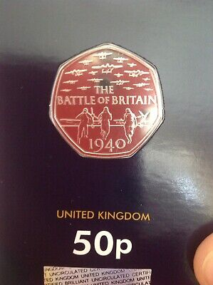 BUNC 2019 Battle Of Britain 1940 50p Fifty Pence Brilliant Uncirculated Coin • 12.95£