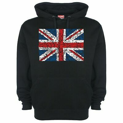 Union Jack Hoodie Hoody British Flag Red White And Blue UK Pride Heavyweight 138 • 22.95£