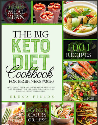 $1.99 • Buy THE BIG KETO DIET COOKBOOK FOR BEGINNERS #2020  1001 Everyday Quick {P.D.F} 2020