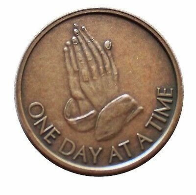 $3.80 • Buy Aa Coin Na Bronze Alcoholics Anonymous Praying Hands Odat Token Medallion New