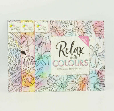 Mind Relaxing Colouring Book Books Kids Or Adult Stress Relief Colour Therapy • 2.99£