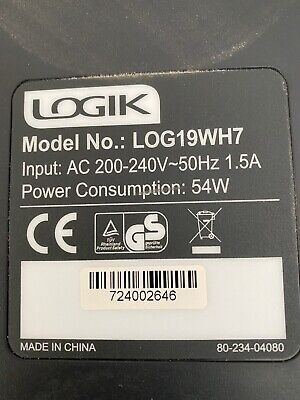 """19""""Logic HdReady Tv.Mod N Log19wh7 (No Stand,Wall Bracket & Controller Included) • 22£"""