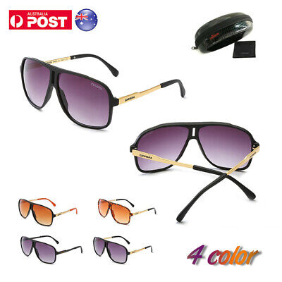 AU18.59 • Buy Men Women's Retro Sunglasses Unisex  Carrera Glasses With Brand Box