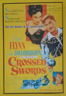 CROSSED SWORDS  (DVD 1954 Errol Flynn Gina Lollobrigida) • 7.99£