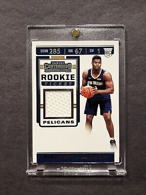 $75 • Buy 2018 Contenders Rookie Ticket Jersey Patch Swatch Relic Zion Williamson RC 🔥