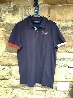 Brand New F1 Aston Martin Red Bull Racing 2018 Polo Shirt Navy Large • 0.99£