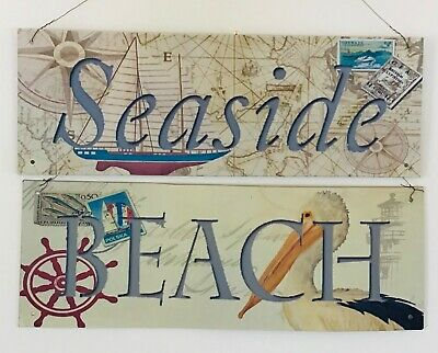 Seaside Or Beach Wall Tin Plaque Bathroom Canal Boat Home Gift  • 6.99£