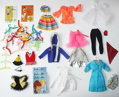 $ CDN14.13 • Buy Vintage Barbie Doll Skipper Pj   Tagged Clothes Hangers And Books