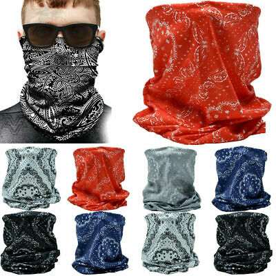 $9.88 • Buy 3 Pieces Multi Use Tube Bandana Scarf Head Face Cover Mask Neck Gaiter Paisley