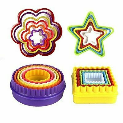 22x Colourful Shaped Cookie Cutters Sandwich Biscuit Pastry Baking Moulds • 3.99£