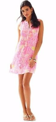 $39.99 • Buy Lilly Pulitzer Sarasota Linen Tank Dress More Kinis In The Keys Hot Pink M