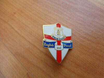 Classic Everton Fc Crest + England Flag 'english And Proud' Enamel Pin Badge • 9.99£