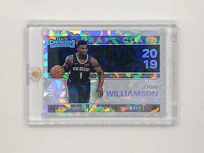 $100 • Buy Zion Williamson 2019-2020 Panini Contenders Draft Class Cracked Ice #04/25