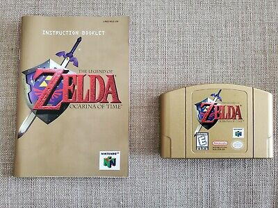 $85 • Buy The Legend Of Zelda: Ocarina Of Time Gold Collector's Edition (Nintendo 64, N64)