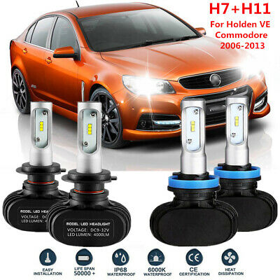 AU45.99 • Buy 4x LED H7 H9 High Low Beam Headlight Bulbs 50W For Holden VE Commodore 2006-2013