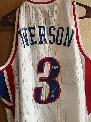 $ CDN233.36 • Buy Allen Iverson Signed Autographed White Jersey Beckett Authenticated