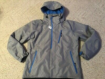 $89.99 • Buy Descente Ski Snow Jacket Gray Winter Size Men's Medium M Hooded