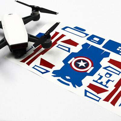 AU37.50 • Buy Captain America Drone Skin Wrap Decal Stickers For DJI Spark