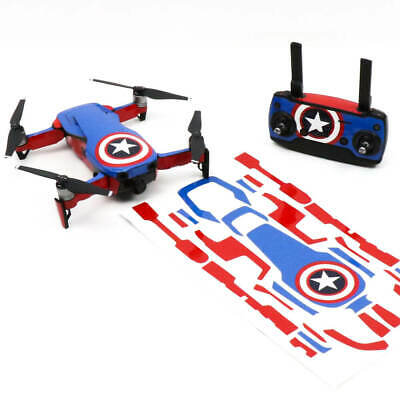 AU37.50 • Buy Captain America Drone Skin Wrap Decal Stickers For DJI Mavic Air